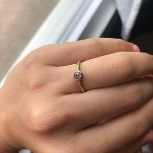 💎 18k Rose Gold Raw Diamond Ring